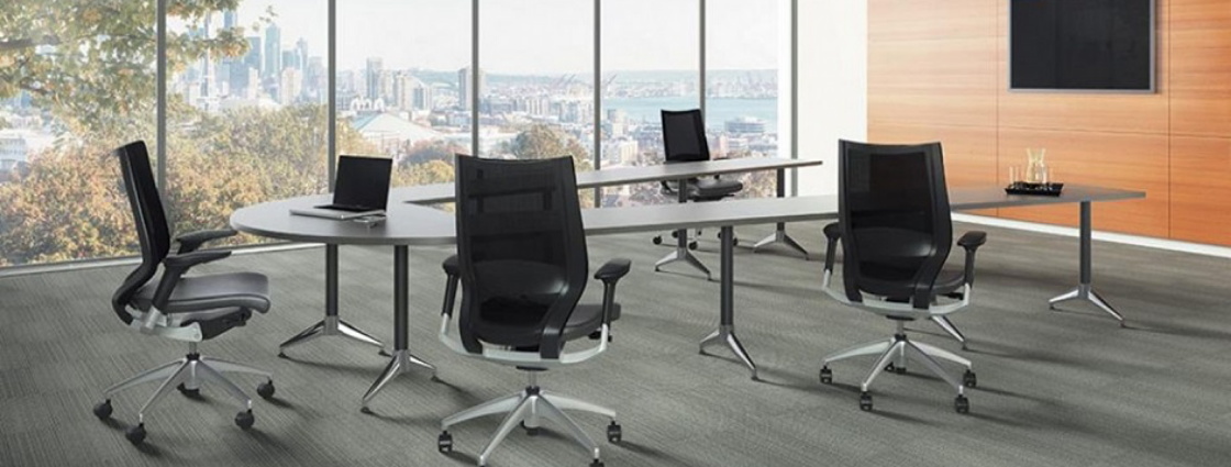 U-shaped conference room table